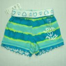 THE CHILDREN'S PLACE Girls 24 Months Tye-Dye Striped Teal Shorts, NEW