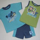 DISNEY TOY STORY BUZZ LIGHTYEAR 4T 3-Pc Shorts Set NEW
