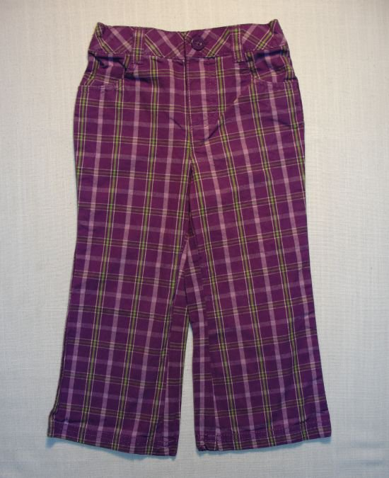 HEALTHTEX Girl's 24 Months Purple Striped Pants