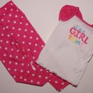 CARTER'S Girl's Sz 4 Pink Butterfly Wing Pajama Set NEW
