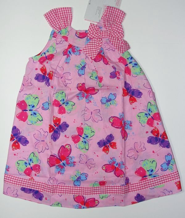 YOUNGLAND Girl's Size 5 Pink Butterfly Sundress, NEW
