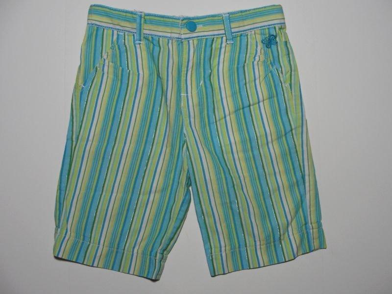 ARIZONA JEANS Girl's Size 5 Striped Teal Capri Pants