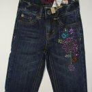 CHILDREN'S PLACE Girl's Size 4 Floral Denim Capri Pants