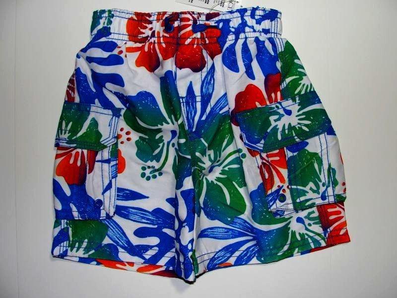CHILDREN'S PLACE Boy's 18 M Swim Shorts, FLORAL, NEW