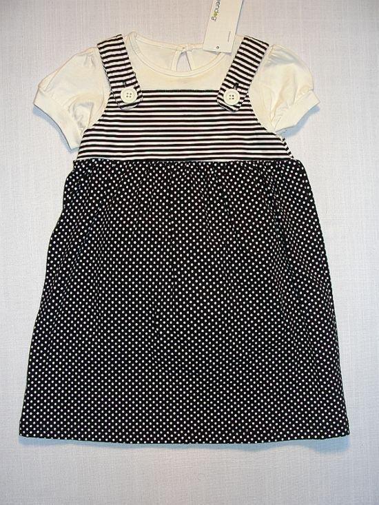 GREENDOG Girl's 24 Months Black, Ivory Dress Set, NEW