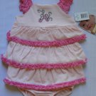 VITAMINS Baby Girl's 3 Month Ballerina Pink Tiered Dress Set, NEW