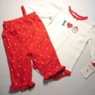 CARTER'S Girl's Newborn 'I Love Santa' Outfit, NEW