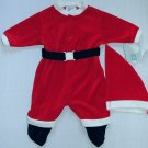 LITTLE ME 3 Months Red Santa Claus Suit and Hat Set, NEW