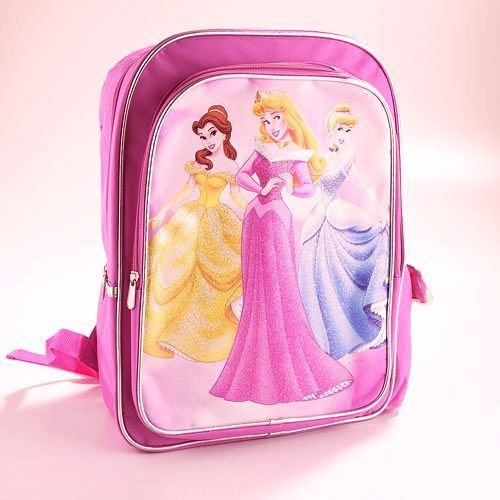 DISNEY PRINCESS Pink School Backpack, NEW