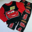 DISNEY CARS LIGHTNING MCQUEEN Boy's Size 4 Fleece Pajama Set, NEW