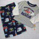 CARTER'S Boy's 2T Dinosaurs To The Rescue Pajama Pants Set, NEW