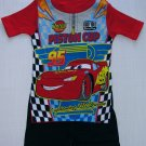 DISNEY CARS PISTON CUP Size 4 Pajama Shorts Set, NEW