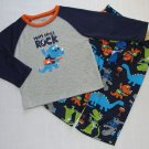 CARTER'S Boy's 2T Dinosaur 'Mom Says I Rock' Pajama Set, NEW