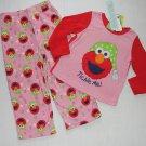 SESAME STREET Girl's 4T ELMO Fleece Pink Pajama Set, NEW