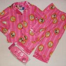 DISNEY PRINCESS Girl's Size 4 Flannel Pajama Set, NEW