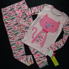 JUMPING BEANS Girl's Size 4/5 Pink Cat, Kitty Pajama Pants Set, NEW