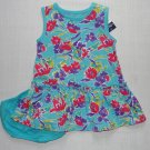 CHAPS Girl's 12 Months Aqua, Teal Floral Dress Set, NEW