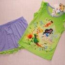 DISNEY FAIRIES TINKERBELL Girl's Pajama Shorts Set, Size 4/5, NEW