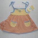 LITTLE ME Girl's 3 Months Striped Summer Sundress, Sun Dress Set, NEW