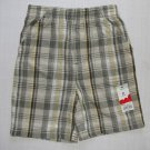 JUMPING BEANS Boy's Size 4T Plaid Cotton Shorts, NEW