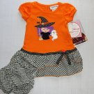 YOUNGLAND Girl's Size 12 Months Halloween Witch Ghost Dress Set, NEW