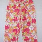 TKS BASICS Girl's Size 12 Pastel Floral Cropped, Capri Pants
