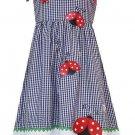 RARE EDITIONS Girl's Size 4 LADYBUG Gingham Sundress, NEW