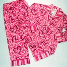 SO Girl's Size 6 Animal Print Flannel Coat-Style Pajama Set, NEW
