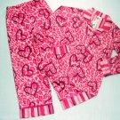 SO Girl's Size 6 Animal Print Flannel Coat-Style Pajama Set, NEW
