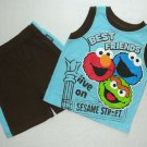 SESAME STREET 4T Elmo Best Friends Shorts Outfit, NEW