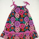 IZZY BELLA Boutique Girl's Size 6 Black Floral SunDress, Dress, NEW