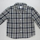 GEORGE Boy's 24 Months Blue Plaid Long-Sleeved Shirt