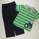 CARTER'S Boy's Size 3T Striped Motorcyle Shirt, Pants Set, NEW