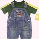 BELUGA NEW YORK Boy's 18 Months Denim Shortalls, Shirt Set, TRUCK, NEW