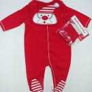 BABYWORKS Size 0-3 Months Christmas SANTA Romper, Bib and Hat Set, NEW