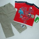 SESAME STREET Size 3T Elmo Baseball Pants Outfit, NEW