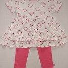 AVON BOUTIQUE TINY TILLIA Girl's 18-24 Months Tunic Shirt, Leggings Set, Outfit