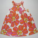 CARTER'S Girl's Size 4 White, Orange Floral Sundress, Dress, NEW
