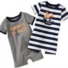CARTER'S Boy's 6 Months PIRATE DOG, MOMMY'S 1st Mate Romper Set, NEW