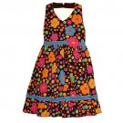 BLUEBERI BOULEVARD Girl's Size 5 Black Floral Sundress, Dress, NEW