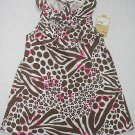 CARTER'S Girl's Size 3T Brown, Pink Animal Print Dress, Sundress, NEW