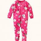 THE CHILDREN'S PLACE Girl's 3T Pink Snowman Fleece Pajama Sleeper