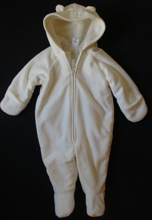 OLD NAVY Baby Girl's, Boy's 6-9 Months Heavyweight Fleece Bear Snowsuit