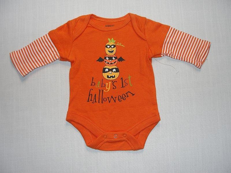 NEWBORN Boy's, Girl's BABY'S 1ST HALLOWEEN Bodysuit, NEW, NWOT