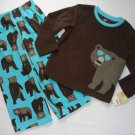 CARTER'S Boy's 4T Fleece Microfleece BEAR With Sunglasses Pajama Pants Set, NEW