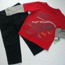 NANNETTE BOYZ 2T DINOSAUR, T-REX Long-Sleeved Shirt, Pants Set, Outfit, NEW