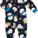 CARTER'S Boy's Size 3T Micro-Fleece SNOWMAN Pajama Sleeper, NEW