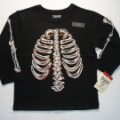 OSHKOSH Boy's Size 3T GLOW-IN-THE-DARK SKELETON Shirt, NEW
