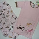 PETITE LEM Boutique Girl's Size 6 Pink Pony Pajama Pants Set