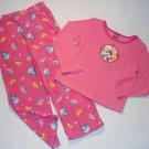 DISNEY PRINCESS Girl's size 5T Pink Fleece Pajama Set